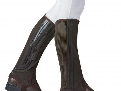 Dublin Easy-Care Wave Grip Half Chap Brown Adults Extra Small ()