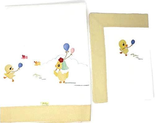 Sam Hedaya Embroidered Crib Sheet & Pillowcase Set (Yellow Duck) ()