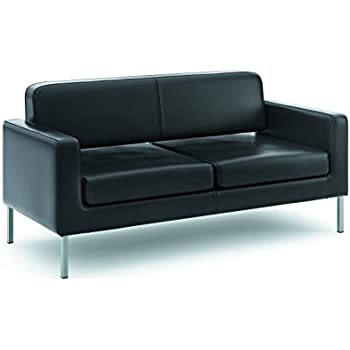 leather office couch. basyx by hon leather sofa twocushion guest couch for office space 28 c