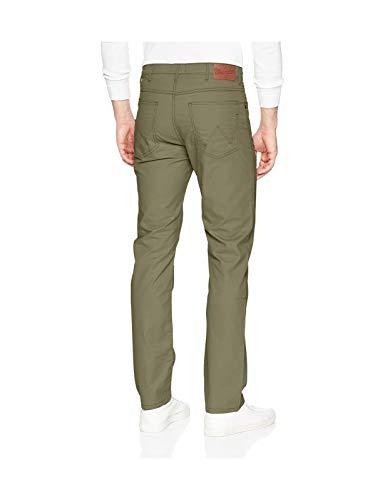 Wrangler Uomo Pantaloni Gamba Arizona Chino Stile 457 Jeans Twill Lungo Verde Morbido 36 Dusty qgxqSwp