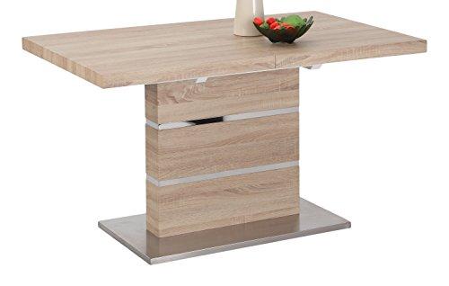 Milan LANIYAH-DT Laniyah Light Oak Extendable Pedestal Dining Table