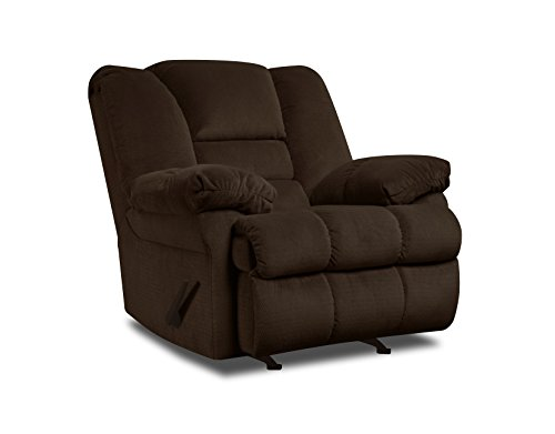 - Simmons Upholstery Dynasty Chocolate Rocker Recliner