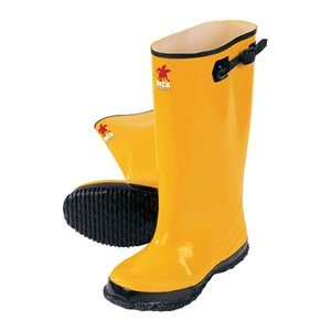River City BYR10014 Yellow Rubber Slush Boots, Size 14