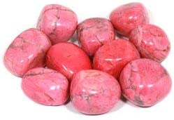 CrystalAge Pink howlite Tumble Stone 20//–/25/mm