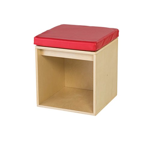 Guidecraft Sit and Store Cube - Toddlers Classroom Stool with Storage, School Supply Kids' -