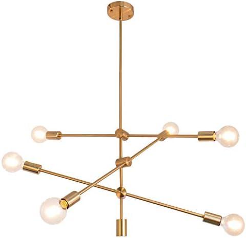 Sputnik Chandelier 6 Lights Modern Pendant Lighting Ceiling Light Fixture