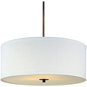 drum pendant lighting. Bronze Drum Pendant Light With White Shade Lighting U