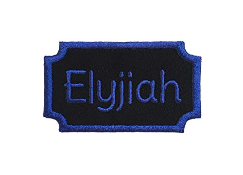 (Custom Embroided Name Plate/Patch Applique Tag - Iron Or Sew On - Choose Your Thread Color!)