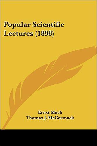 Book Popular Scientific Lectures (1898)