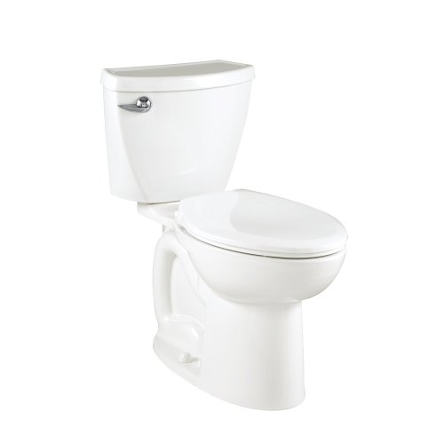 American Standard Cadet 3 Compact Right Height Elongated Flowise Two-Piece High Efficiency Toilet with 12-Inch Rough-In, White White - White Cadet 3 Compact