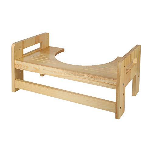 """Ufine Wood Squatting Toilet Stool 5"""" 7"""" 9 Inch Adjustable Bathroom Ste"""