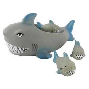 Amazon Com Rubber Shark Family Bathtub Pals Floating