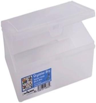 OC ORDEN EN CASA Y MUCHO MAS Caja organizadora 14,5cm con 5 Compartimentos (Material: Plástico. Medidas: 14,5x9x4cm. Color: Blanco.): Amazon.es: Hogar