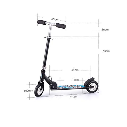 FDSjd Scooter King Scooter Folding Two Wheels Three Wheels Yo-Yo Beginner Big Boy Scooter (Color : Black, Edition : Three Rounds) by FDSjd (Image #5)