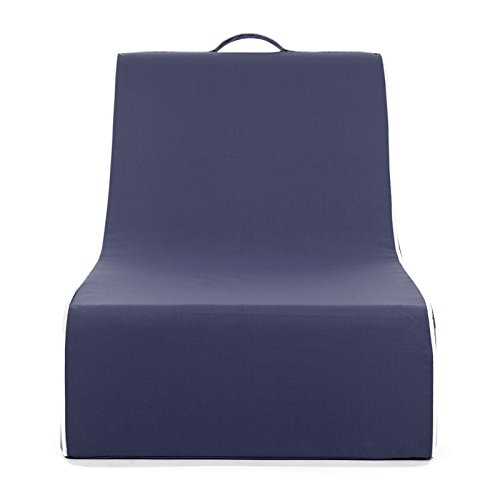 PopLounge Expandable Foam Furniture Coast Lounger, Crown Blue Navy, 23'' x 40'' x 26'' by PopLounge (Image #1)