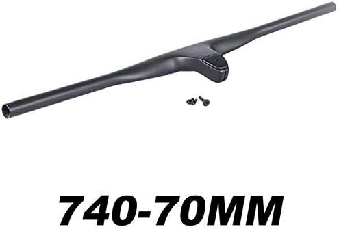 自転車グリップ ファイバーは、MTB自転車ハンドルバーライザーT1000カーボン-12°度単位740ミリメートルチタンネジ用MTB XCクロスカントリー統合しました (色 : 740 70mm)