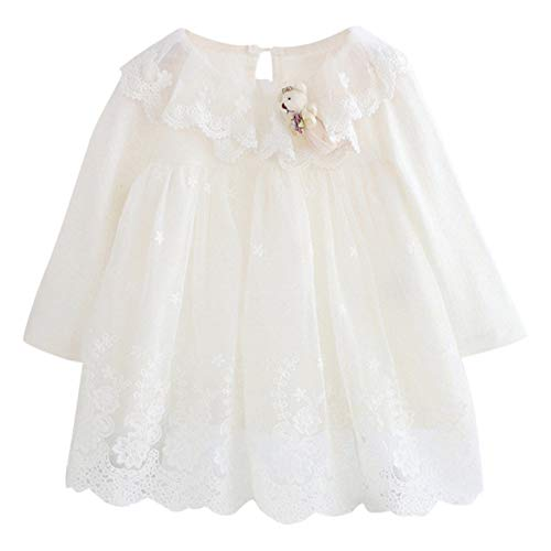 Price comparison product image Opeer Newborn Infant Baby Girl Lace Tulle Cartoon Embroidery Princess Dress Clothes 3-24 Months