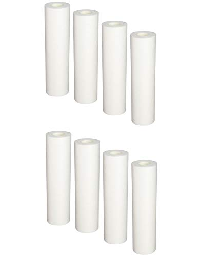 Smartwater Household Sediment Filter - Compatible with 8-Pack Replacement GE GXWH04F Polypropylene Sediment Filter - Universal 10-inch 5-Micron Cartridge for GE HOUSEHOLD PRE-FILTRATION SYSTEM