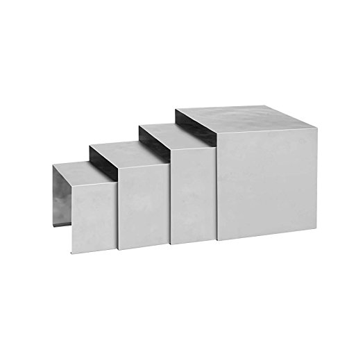 Stainless Steel Riser Set (Winco HRS-4 18/8 Stainless Steel 4-Piece Set Display Risers, 5-1/2-Inch, 6 5/8-Inch, 7-7/8-Inch and 9-Inch)