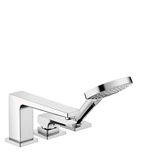Metropol 3-Hole Roman Tub Set Trim with Lever Handle with 1.8 GPM Handshower