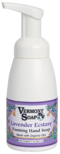 Vermont Soap Organics - Lavender Ecstasy Foaming Hand Soap 7oz Pump made in Vermont