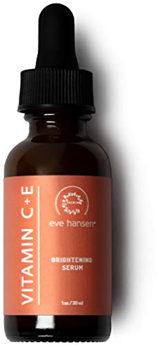 Eve Hansen Vitamin C Serum for Face (1 oz) | Natural and Organic Vitamin C Face Serum with Hyaluronic Acid, Vitamin E and Aloe Vera | Skin Brightening Serum to Reduce Appearance of Wrinkles, Fine Line