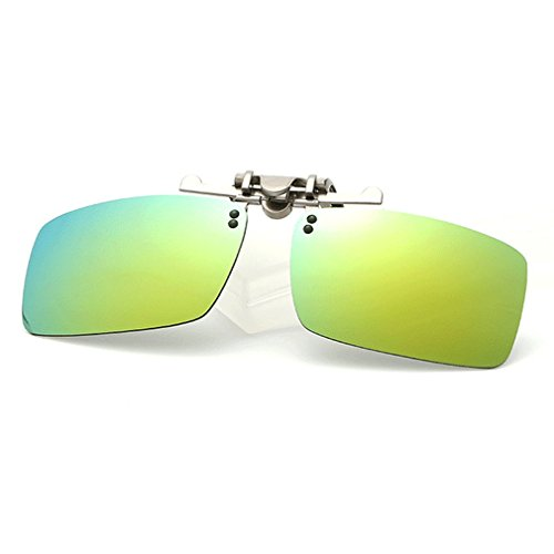 LOMOL Fashion Polarized Myopia Clip-on Flip up UV Protection Rectangular - Sunglasses Versage