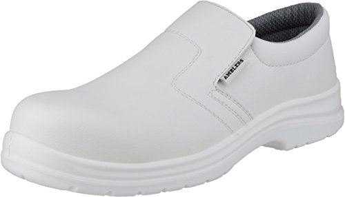 Amblers Safety Mens FS510 Slip On Waterproof Safety Shoes White White