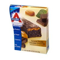 Atkins Caramel Bar, Double Chocolate Crunch (Caramel Double Chocolate Crunch Bars)
