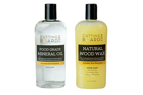 Food Grade Mineral Oil for Cutting Boards, Butcher Blocks and Countertops (Set of 2) (Oil Cutting Board)