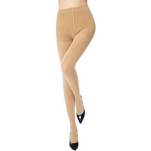 486d16f86 MANZI 2 Pairs Women s Run Resistant Control Top Panty Hose Opaque Tights (Medium