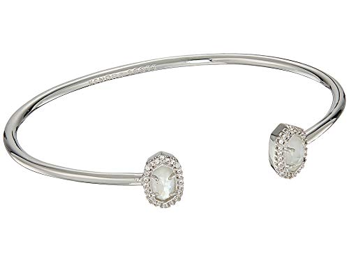 (Kendra Scott Calla Cuff Bracelet Silver Ivory Mother of Pearl)