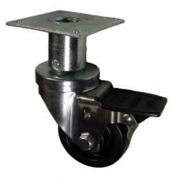Mapp Caster EFGP03B125, Adjustable Height Leg Casters - 250 lbs Capacity