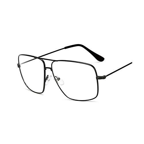 Vintage Gold Metal Frame Eyeglasses Mens Womens Sun Glasses Retro Square Optical Lens Eyewear Nerd Clear Lens ()