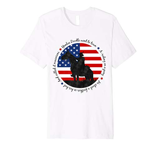 Yankee Doodle Patriotic popular American Song July 4th horse Premium T-Shirt