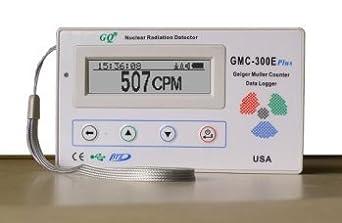 GQ GMC-300E-Plus Digital Geiger Counter Nuclear Radiation Detector Monitor Meter dosimeter Beta Gamma X ray data logger recorder realtime monitoring, radiation detector