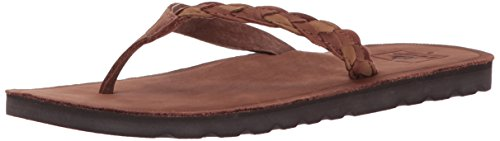 Reef Women's Voyage Sunset Flip Flop, Rust, 9 M (Brown Flip Flop)
