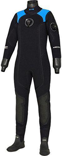 Bare XCS2 Crushed Neoprene Pro Dry Womens Drysuit (Large, Blue) (Best Crushed Neoprene Drysuit)