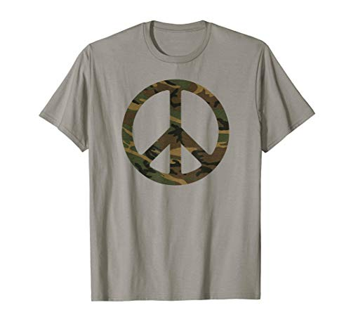 Camo Camouflage Peace Sign Army Peace Symbol T-Shirt (Camouflage Peace Sign)