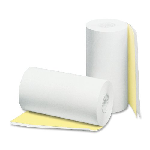 Mailers Canary - PM Company Perfection 2 Ply POS/Cash Register Rolls, 4.5 Inches X 90 Feet, White/Canary, 24 per Carton (08785)