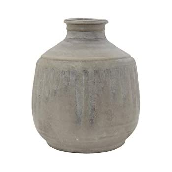 Bloomingville AH0440 Terracotta Vase, Grey