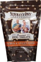 Newman's Own Organics Premium Dog Treats Salmon and Sweet Po