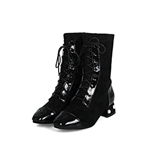 Amazon.com: HYLFF Womens High Heel Ankle Boots Block Lace