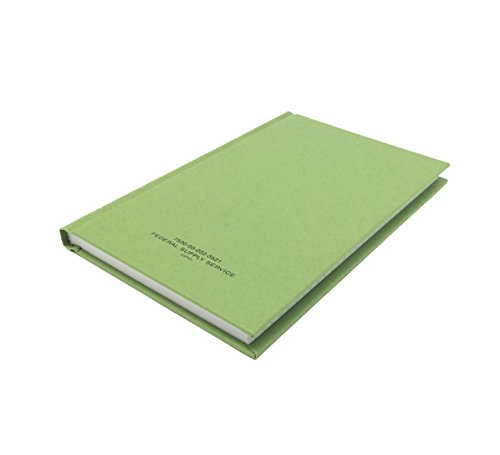 DIY Indispensables US Military Log Record Book 5-1/4 x 8 Inch 96 Sheets with Rugged Sewn Case Binding Blue Line College Ruled Notebook NSN 7530-00-222-3521 Made in USA from DIY Indispensables