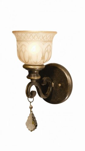 T-MWP, Norwalk Crystal Wall Sconce Lighting, 1 Light, 60 Total Watts, Bronze (Aw Blue Crystorama Lighting)