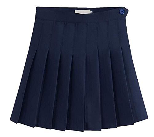 color Girls A Home Dress Navy Blue Da Vita Pieghe Donna Gonne Size S Corte Alta Gray rHrvnqR