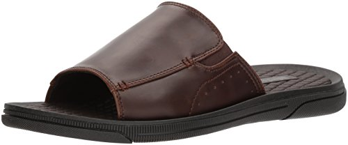 Unlisted by Kenneth Cole Men's Unlisted Pacey B Slide Sandal, Brown, 9 M US (Slides Casual Leather)