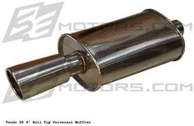 Tsudo Street performance SP1 4 rolled tip universal stainless oval muffler