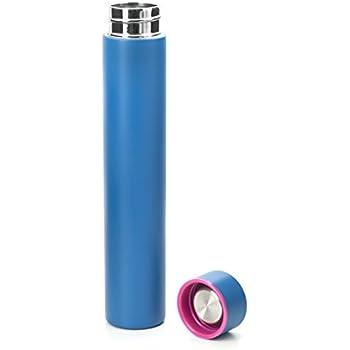 Kikkerland Slim Bottle, 8 oz, Blue