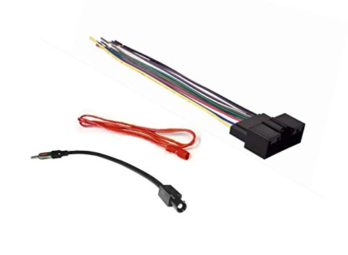 Car Stereo Radio Wire Harness and Antenna Adapter Combo to Install on